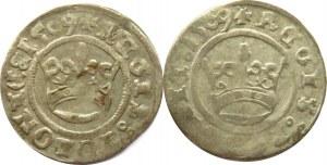 Zygmunt I Stary, lot 2 półgroszy 1509, Kraków, różne odmiany napisowe