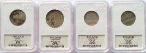Polska, lot srebrnych monet XVII-XVIII wiek w gradingu, różne nominały
