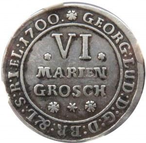 Niemcy, Braunschweig-Lunebourg, 6 Marien groschen 1700, Brunszwik