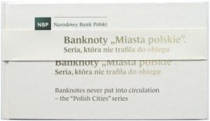 Polska, Zestaw banknotów Miasta Polskie w albumie, UNC
