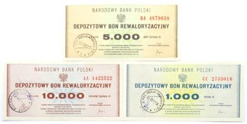 Polska, PRL, lot bonów rewaloryzacyjnych, UNC