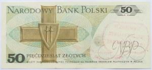 Polska, PRL, 50 złotych 1988, seria HA, UNC nadruk wyborczy