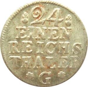 Pomorze, Fryderyk II Wielki, 1/24 talara 1753 G, Szczecin, UNC