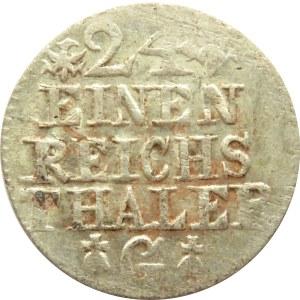Pomorze, Fryderyk II Wielki, 1/24 talara 1753 G, Szczecin, piękne