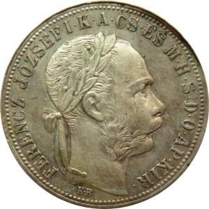Austro-Węgry, Franciszek Józef I, 1 floren 1890, Kremnica