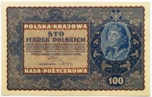 Polska, II RP, 100 marek 1919, II seria EF