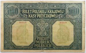 Polska, DYREKCJA, 500 marek 1919, numer 964429, bardzo rzadkie