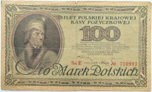 Polska, II RP, 100 marek 1919, seria E