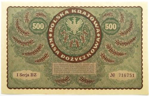 Polska, II RP, 500 marek 1919, I seria BZ