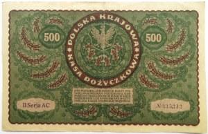 Polska, II RP, 500 marek 1919, II seria AC