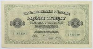 Polska, II RP, 500 000 marek 1923, seria T, piękne