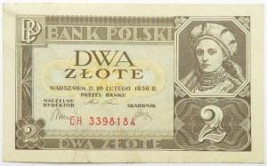 Polska, II RP, 2 złote 1936, seria CH