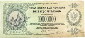 Polska, II RP, 10 milionów marek 1923, seria C, bardzo rzadkie
