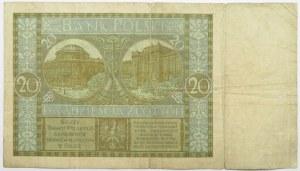 Polska, II RP, 20 złotych 1926, seria BA, bardzo rzadkie
