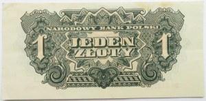 Polska Ludowa, seria lubelska, 1 złoty 1944, seria BC, UNC-