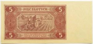 Polska, RP, 5 złotych 1948, seria AP, piękne