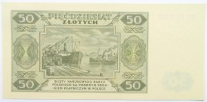 Polska, RP, 50 złotych 1948, seria DT, UNC