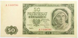 Polska, RP, 50 złotych 1948, seria A, rzadkie
