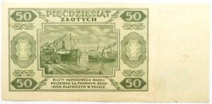 Polska, RP, 50 złotych 1948, seria C, rzadkie