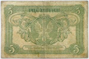 Polska, II RP, Konstytucja, 5 złotych 1925, seria D, rzadki