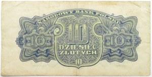 Polska Ludowa, seria lubelska, 10 złotych 1944, seria AC