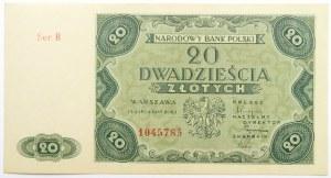 Polska, RP, 20 złotych 1947, seria B, UNC
