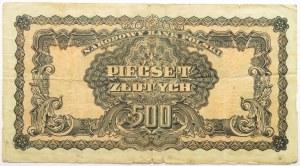 Polska Ludowa, seria lubelska, 500 złotych 1944, seria AB, ...-owym, rzadkie