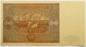 Polska, RP, 1000 złotych 1946, seria G, Warszawa, UNC