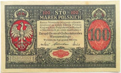Polska, II RP, 100 marek 1916, Generał, seria A, ładne