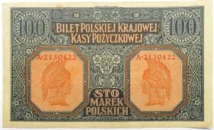 Polska, II RP, 100 marek 1916,