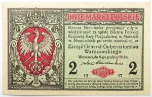 Polska, II RP, 2 marki 1916
