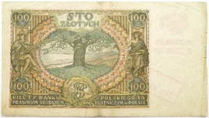 Polska, Generalna Gubernia, 100 złotych 1932, seria BS, nadruk okupacyjny