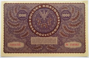 Polska, II RP, 1000 marek 1919, I serja AX - typ 7