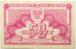 Polska Ludowa, seria lubelska, 50 groszy 1944, bez oznaczenia serii