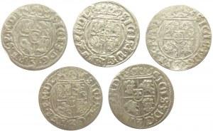 Zygmunt III Waza, lot półtoraków 1620-1627, Bydgoszcz, 5 sztuk