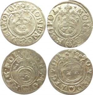 Zygmunt III Waza, lot półtoraków 1615-1619, Bydgoszcz, 4 sztuki