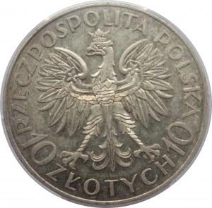 Polska, II RP, 10 złotych 1933, Jan III Sobieski, Warszawa, PCGS AU58