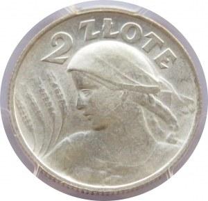 Polska, II RP, 2 złote 1924 H, Birmingham, PCGS AU58 przepiękna moneta!!!!