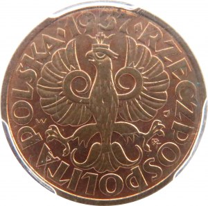Polska, II RP, 2 grosze 1937, Warszawa, PCGS MS64RB