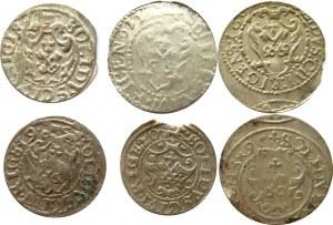 Zygmunt III Waza, lot szelągów, Ryga, różne lata