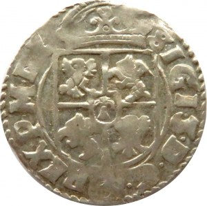 Zygmunt III Waza, półtorak 1616, herbu SAS, Kraków, ozdobna tarcza
