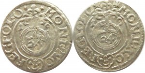 Zygmunt III Waza, dwa półtoraki 1619, herbu Sas, Bydgoszcz, różne ozdobniki