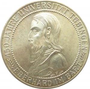 Niemcy, Republika Weimarska, 5 marek 1927 F, 450 lat Uniwersytetu w Tubingen, Stuttgart, rewelacyjny!