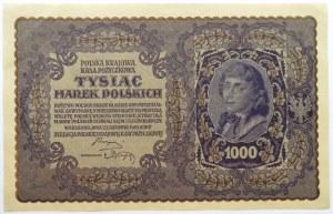 Polska, II RP, 1000 marek 1919, III serja A - typ 8, piękne