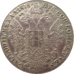 Austria, Franciszek I, 1 talar 1818 A, Wiedeń