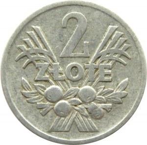 Polska, PRL, 2 złote 1972, Jagody, destrukt skrętka o 50 stopni