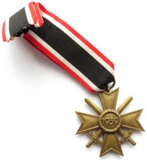 Niemcy, III Rzesza, Krzyż Zasługi Wojennej za rok 1939 z mieczami, ze wstążką, klasa 2, syg. 87