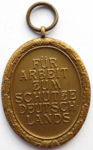 Niemcy, III Rzesza, Medal za Pracę przy Budowie Schronów, brąz