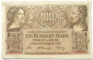 Polska/Niemcy, Kowno 100 marek 1918 OST, bez serii