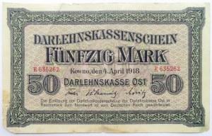 Polska/Niemcy, Kowno 50 marek 1918 OST, bez serii
